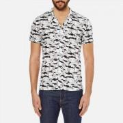 J.Lindeberg Men's Dani Short Sleeve Drapey Print Shirt - Off White - S - White