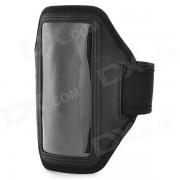 PVC de proteccion universal + brazal del neopreno para Sony Xperia ZR M36h / C5502 / HTC uno Mini - Negro