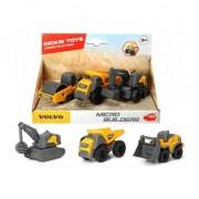 Set Dickie Toys 3 Utilaje de Constructii Volvo