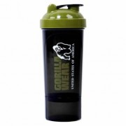Gorilla Wear Compact Shaker, Black & Army Green