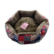 LES FILOUS POLKA L 65cm dvoubarevný pelech bavlna / polyester s odnímatelným polštářem