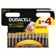 Baterie Duracell Basic AAA LR03 8+4buc gratis