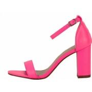 Sandale roz neon cu toc gros Ingrid