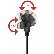 Cavo HDMI Highspeed con Ethernet A/A M/M Ruotabile 5 m