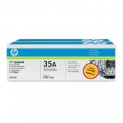 TONER NEGRO HP CB435AD Nº35A 1500 PAGINAS 2UNIDADES PARA LASEJET P1005 / P1006