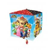 Balão alumínio cubo Super Mario 38 x 38 cm