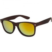 Arzonai Classics Wayfarer Black-Orange UV Protection Sunglasses For Men & Women |MA-019-S5|
