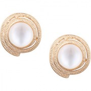 Om Jewells Rose Gold Plated Captivating Crystal jewellery Stud Earrings for girls and women ER1000068