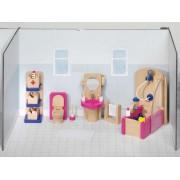 Fa babaház bútor, fürdőszoba
