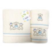 Set de 3 prosoape pentru copii Valentini Bianco Blue Bear