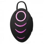 A3 Bluetooth V4.0 solo oido en la oreja de los auriculares - Negro + Rosa