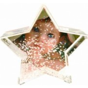 Glob foto stea cu zapada personalizat 9.6x4.5x9.3 cm fotografie inclusa