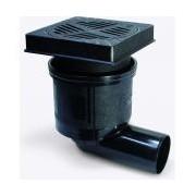 Sifon Kessel 67923B, Yard drain system 200 Ecoguss lat. angled DN 100