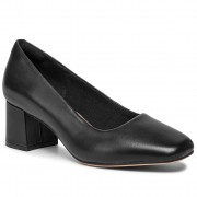 Обувки CLARKS - Sheer Rose 261440834 Black Leather