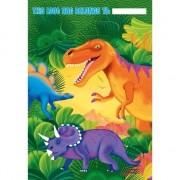 Geen Dino themafeest zakjes 8 stuks van plastic