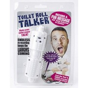 Recordable Toilet Roll Talker - Bathroom Prank - Makes Your Regular Toilet Paper Talk - Surprise Friends & Family With a Custom Message - Record up to 10 Secs of Audio - The Best Gag Gift This Summer