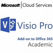 MICROSOFT Visio Professional, Academic, VL Subs., Cloud, All Languages, 1 user, 1 month DV2-00001