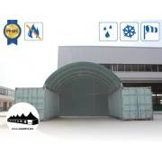 Hátsó fal 8m széles konténer fedéshez / 720g/m2 PVC / Zöld