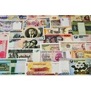 25 Different Original Banknotes from 20 Different Asia Europe Africa Latin America whole world Countries Foreign Legal Money Currency Notes