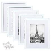 upsimples Marco de fotos (11 x 14 cm, 5 unidades), color blanco