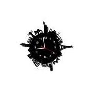 Relógio de Parede Decorativo, Modelo Mundo, ME Criative, Preto, Relógios Temáticos