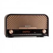 Auna Glastonbury Equipo estéreo retro DAB+ FM Bluetooth CD Reproductor MP3