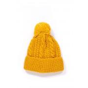 Pennyblack Cappello in maglia con pon-pon Tana Giallo Acrilico Donna