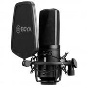 Boya BY-M1000 Microfon Studio Condenser cu Shockmount si Pop Filter