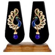Zaveri Pearls Peacock Persona Dangle & Drop Earring-ZPFK2709