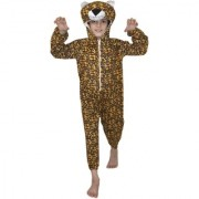Kaku Fancy Dresses Leopard Animal Costume For Kids School Annual function/Theme Party/Competition/Stage Shows/Birthday Party Dress