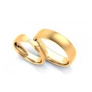 Exkluzivní snubní prstýnky 0,030 ct s diamantem šířka 5 mm STOBR263