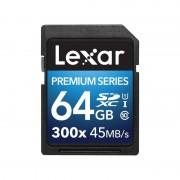 Lexar Platinum II 300x SDXC UHS-I 64GB Svart