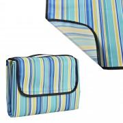 [casa.pro]® Одеяло за пикник, излет, 200 x 190 cm, Синьо/Жълто райе