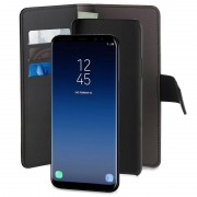 Samsung Galaxy S9+ Puro 2-in-1 Magnetic Wallet Case - Black