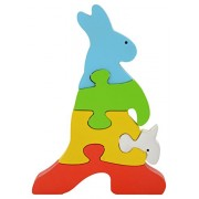 Skillofun Wooden Take Apart Puzzle Kangaroo, Multi Color