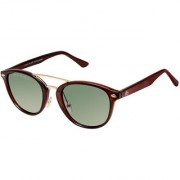 David Blake Green Gradient Polarized UV Protected Round Sunglass