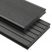 vidaXL Panneaux de terrasse WPC solides et accessoires 20 m² 4 m Gris