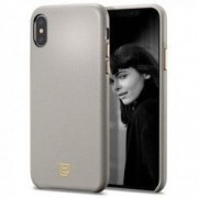 Carcasa fashion Spigen LA MANON Calin iPhone XS/X Oatmeal Beige