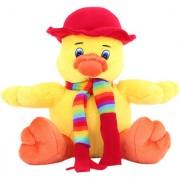 DealBindaas Sweet Duck Stuff Animal 20 Cms Yellow