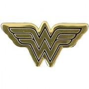 DC Comics Originals Wonder Woman Logo Metal Sticker Gold 6cm