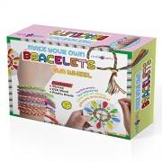 SadoCrafts Make Your Own Bracelets with EVA Wheel - Fun, Interactive, Educational DIY Jewelry Kit for Kids