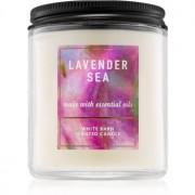 Bath & Body Works Lavender Sea vela perfumada 198 g