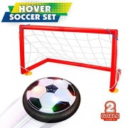 Kids Toys LED Hover Soccer Football Ball Electric Air Power Soccer Disc Boys Girls Sport Children Toys Training Football for Indoor or Outdoor with Parents Game by feierna (Football goal)