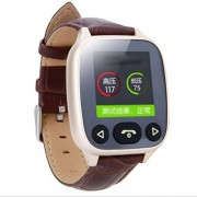 KQHSM Ancianos Inteligente Llamada de Voz del intercomunicador de posicionamiento GPS SOS multifunción Reloj podómetro (Color : Gold)