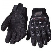 OMCY Imported PRO-BIKE PROBIKER MOTORCYCLE BIKE RACING RIDING GLOVES M SIZE (BLACK)