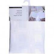 Merkloos Witte tafelkleden/tafellakens 130 x 180 cm rechthoekig van stof