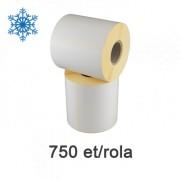 Félfényes etikett címkék 100x70mm, fagyasztható, 750 címke/tekercs