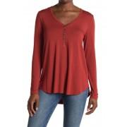 Karen Kane Henley Long Sleeve Tunic T-Shirt RUS