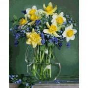 Schipper Картина по номерам Букет весенних цветов 40х50 см