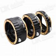 Anillo de tubo de extension macro de auto focus set for canon DSLR - negro + oro